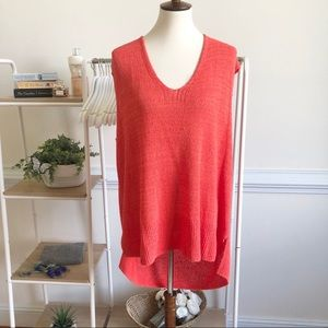 Free People sleeveless oversized knit tunic